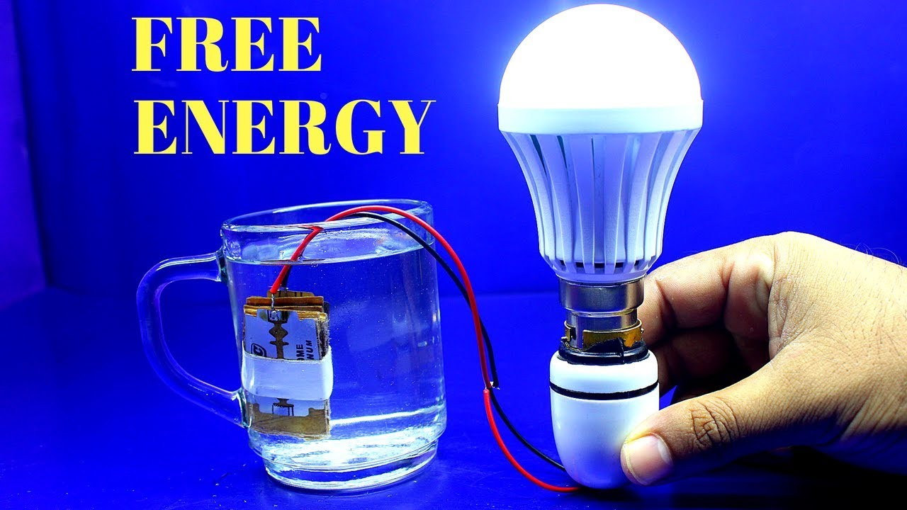 free energy salt water and magnet with light bulb procedure