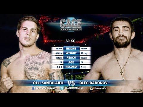CAGE 41 Olli Santalahti vs Oleg Dadonov Full Fight MMA