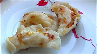 Вареники с картошкой и жареным луком Dumplings with potatoes