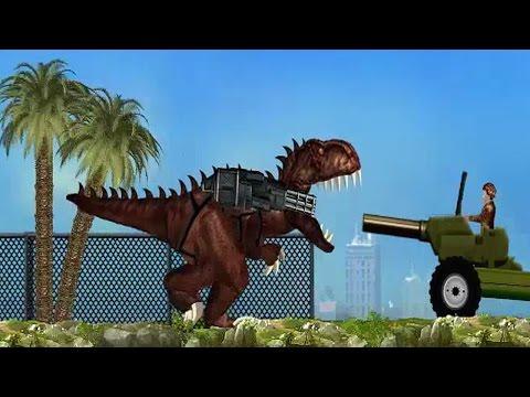 Игра Динозавр Рекс онлайн Treadmillasaurus Rex играть