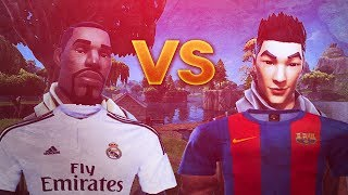 REAL MADRID VS BARCELONA! - Fortnite Batte Royale