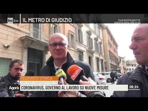 Coronavirus, governo al lavoro su nuove misure - Agorà 06/03/2020