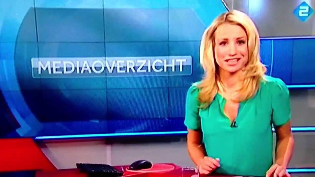 NOS Journaal blooper: Dionne Stax schrikt - YouTube