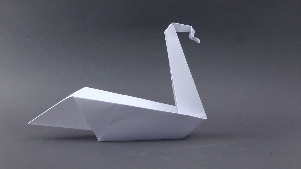 origami easy swan youtube