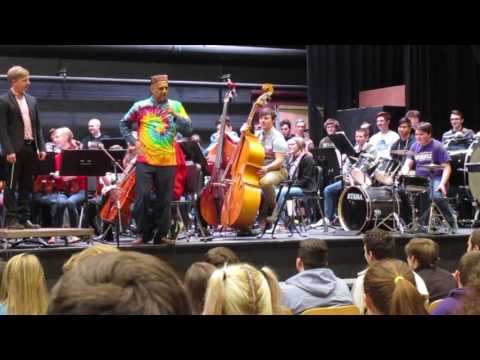 Waterville High School music performance with Scrini