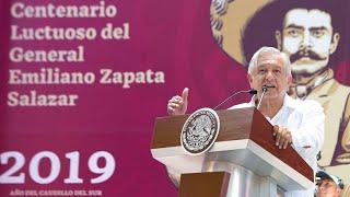 Centenario Luctuoso del general Emiliano Zapata Salazar, desde Cuernavaca, Morelos.
