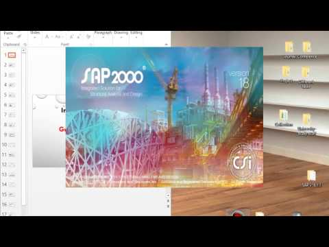 SAP2000 - Part1- introductory Tutorial: Modeling a 3-dimensional structure (VERY DETAILED)