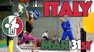 Team Italy - 2017 Europeans Training Hall (Mar 31st)