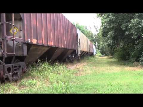 Weebling and wobbling through the grass on the Mississippi Delta railroad