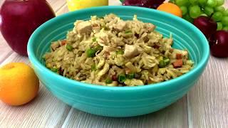 Chinese Fried Rice Chicken.Жаренный рис с курицей по китайски. Вы будете готовить его снова и снова.