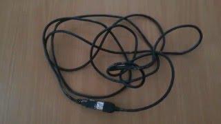 Видео урок - Скоростное распутывание проводов ОДНОЙ рукой!!! USB
