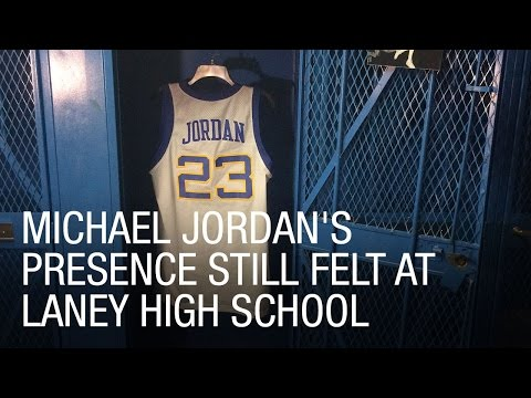 237d9e6dcdc Michael Jordan's Presence Still Felt at Laney High School - YouTube