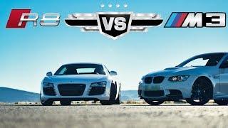 2007 Audi R8 V8 vs 2008 BMW E92 M3, dragrace