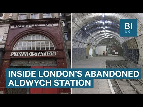 Inside Aldwych, London's abandoned Underground station