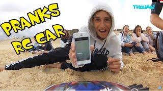 RC CAR ON BEACH - PART 2 - VIDEO GAGS- CAM ONBOARD FPV TRAXXAS 4X4