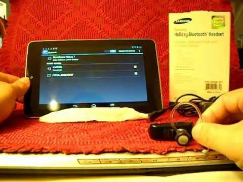 Nexus 7 - Bluetooth HeadSet Setup