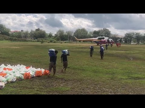Food aid airlifted to Sarawak's Tatau district