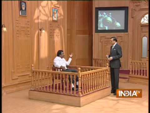 I am not Karunanidhi's spy in Delhi, says A. Raja in Aap Ki Adalat