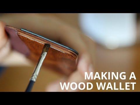 Making of the Wood and Leather Wallet