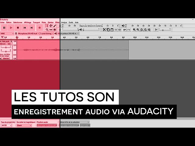 [TUTO SON] : Enregistrement audio via Audacity