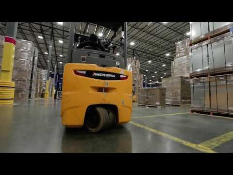 Jungheinrich® Three Wheel Electric Counterbalanced Forklift Review - Daikin Manufacturing