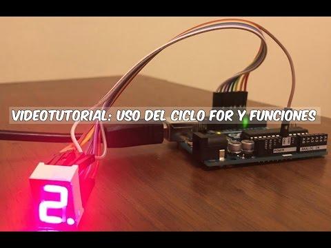 Curso Arduino - Uso Del Ciclo FOR Y Funciones