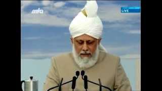 Lajna UK Ijtema 2012 - Discours de clôture par le leader mondial de la paix