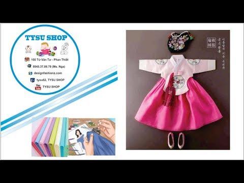158- thiết kế áo hanbook bé gái|dạy cắt may online miễn phí | sewing online class free | tysushop