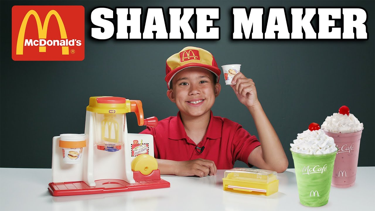 McDonald's SHAKE MAKER!!! Cooking with Evan - Vintage Toy Review! #1