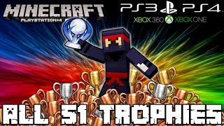 Minecraft ps4 - all 51 trophies! - trophy guide [tutorial] (ps3, xbox, console, pc, achievements)
