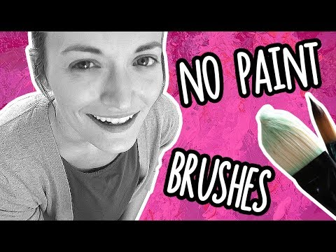 NO PAINT BRUSHES CHALLENGE! // Painting WITHOUT Paint Brushes