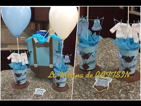 Centro de mesa Baby shower fácil