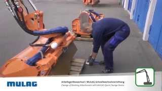 MULAG Arbeitsgerätewechsel / Change of working attachments