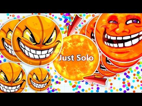 """Agar.io TROLLING """" JUST SOLO """" & NEW BEST TROLL EVER!"""