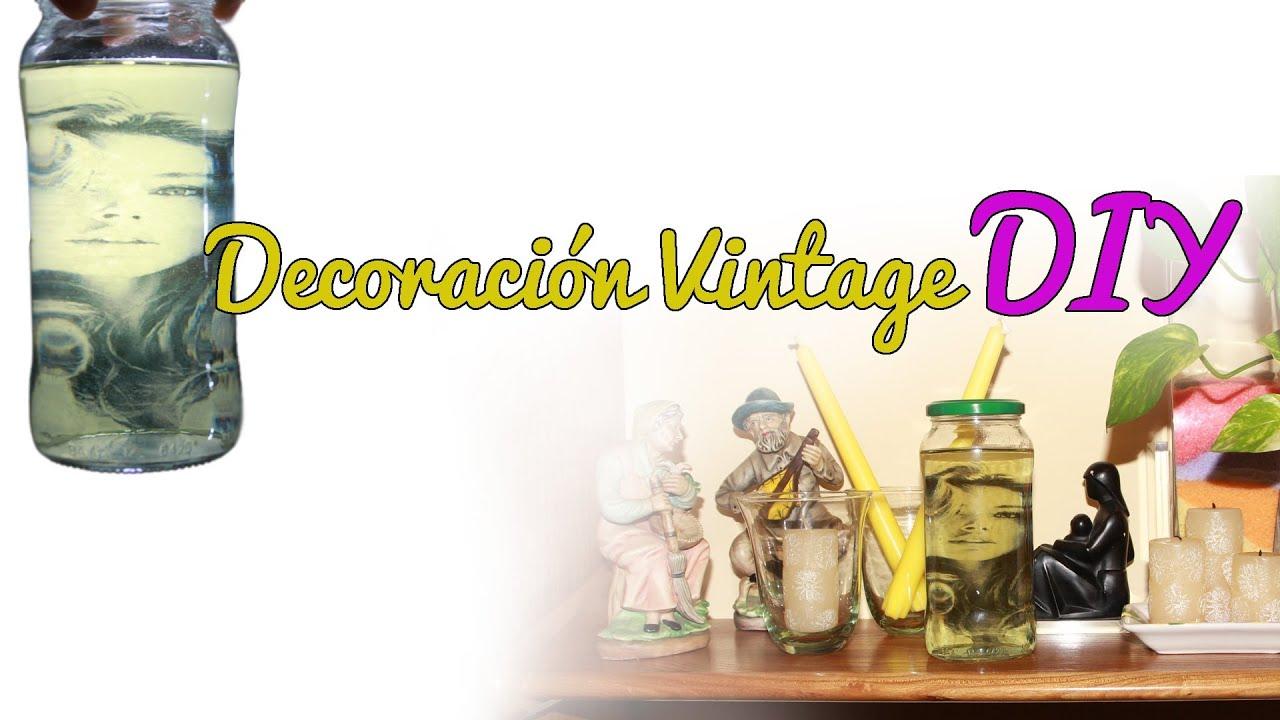 Decoraci n vintage con un fotograf a diy manualidades for Decoracion vintage manualidades