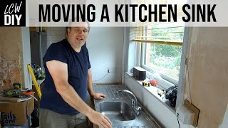 Moving a kitchen sink and plumbing it in | DIY Vlog #34