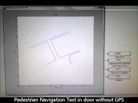 PINS(Pedestrian Inertial Navigation System)  Test without GPS : (1)