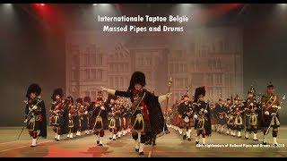 Massed Pipes and Drums - Taptoe België (Lommel) 2018