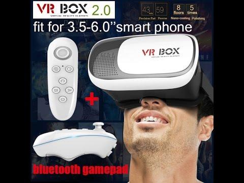 "Google cardboard HeadMount VR BOX 2.0 Version VR Virtual 3D Glasses for 3.5"" - 6.0"" Smart Phone"