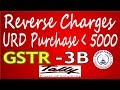 Tally ERP9 GST PURCHASE from URD LESS Then Rs. 5000 Reverse Charges Entries GSTR 3B Part-21