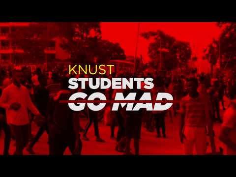 Massive demonstration at KNUST campus. October 22, 2018