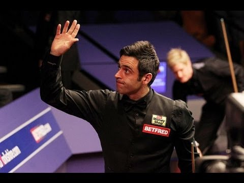 Ronnie O'sullivan entrance for the World Snooker Championship 2013