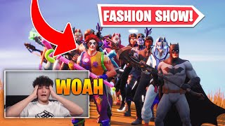 Fortnite Fashion Show Tournament! *FIRE* Skin Competition! Best DRIP & COMBO WINS! (1/8)