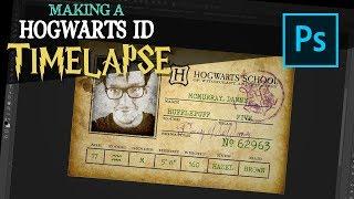 Hogwarts ID Photoshop Timelapse