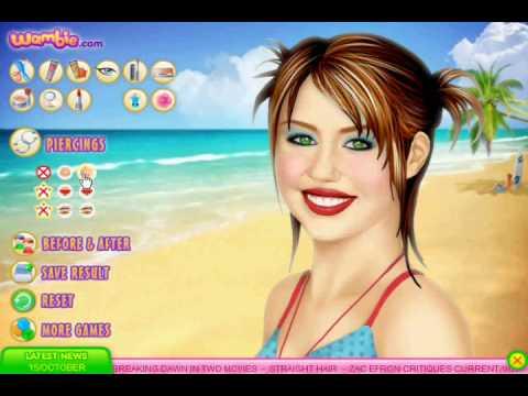 Miley Cyrus Makeup Games Wambie   Saubhaya Makeup