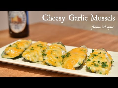 Cheesy Garlic Mussels | John Dengis