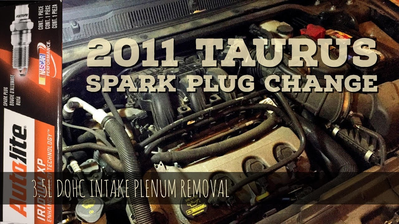 2011 Taurus 35l Dohc Spark Plug Change Intake Plenum Upper 2001 Ford Wire Diagram Manifold Removal Easy