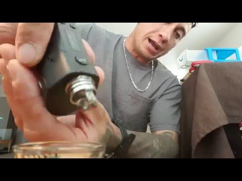 {Vaping} coil cleaning and re-cotton {101} on rx200 and velocity RDA