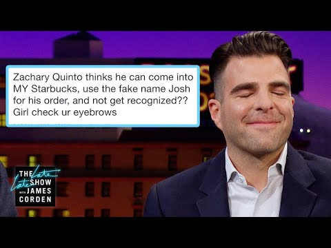 James Corden vs. Zach Quinto Was Busted for His Fake Starbucks Name