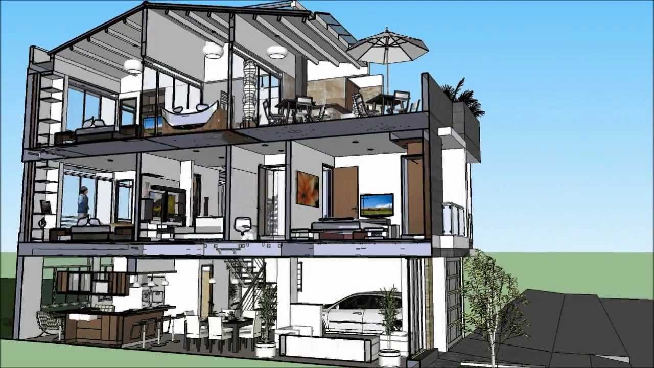 Vendo casa valle del lili cali cortes youtube for Escaleras para tres pisos